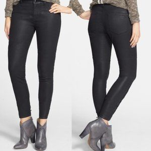 Articles of Society Black Moto Skinny Jeans